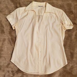 Loro Piana classic white cotton / silk button down